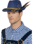 Premium Unisex Authentic Bavarian Beer Oktoberfest Mini Costume Hat with Feathers Outfit Accessory