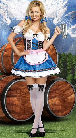 PREMIUM LADIES Oktoberfest Bavarian Wench Ladies Beer Maid Heidi Fancy Dress Costume