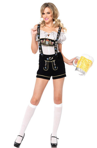 Premium Ladies Oktoberfest Beer Maid Wench German Bavarian Heidi Fancy Dress Costume