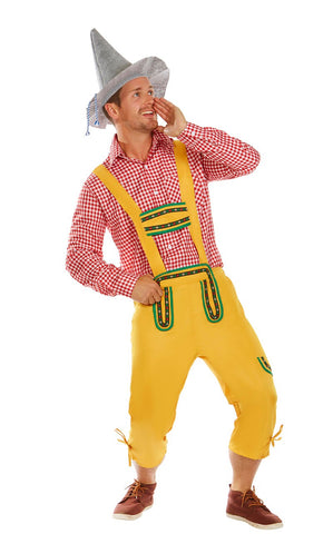THE YODEL-MYSTER: Premium Mens German Beer Oktoberfest Halloween Fancy Dress Costume