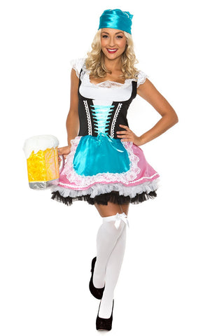 The Erna: Premium Ladies Beer Maid Wench German Heidi Oktoberfest Gretchen Costume Outfit