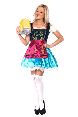 The Adele: Premium Ladies Beer Maid Wench Costume Oktoberfest Gretchen German Fancy Dress Halloween