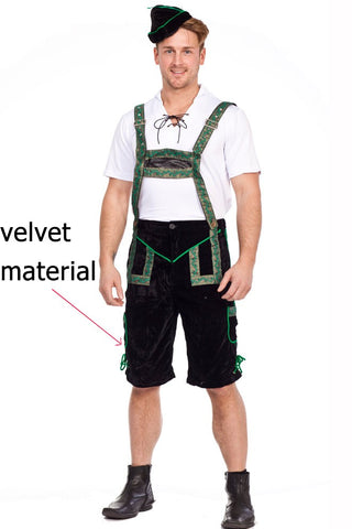 THE FINN: Premium Men's Lederhosen Octoberfest Bavarian German Beer Costume
