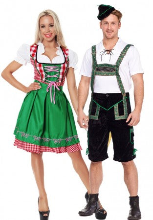 Premium Oktoberfest Green Vintage Couple Costumes
