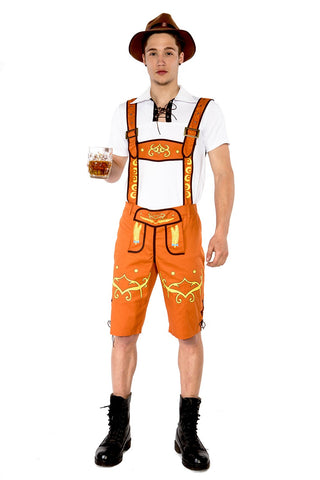 Premium Men's Lederhosen Oktoberfest German Fancy Dress Costume
