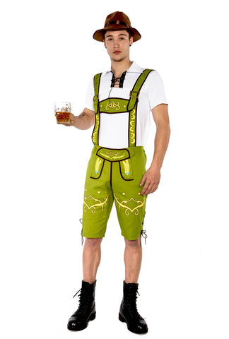 Premium Mens Lederhosen Oktoberfest German Fancy Dress Costume