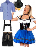 Premium Oktoberfest Beer Maid Wench Couple Costumes
