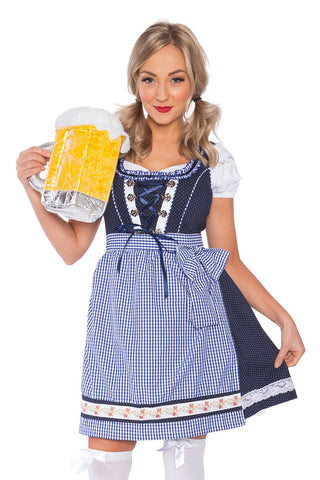 Premium Ladies Oktoberfest Beer Maid Fancy Dress Costume
