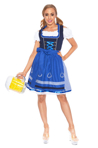 Premium Ladies Beer Maid Oktoberfest Bavarian Wench German Heidi Fancy Dress Costume
