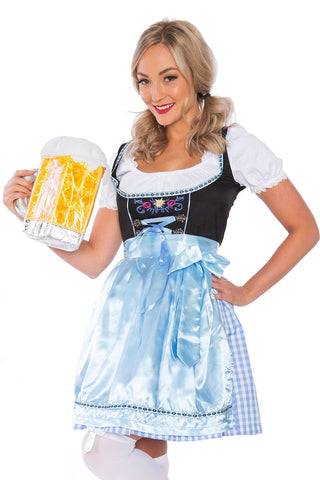 The Lina: Premium Ladies Beer Maid Oktoberfest Bavarian Wench German Heidi Fancy Dress Costume