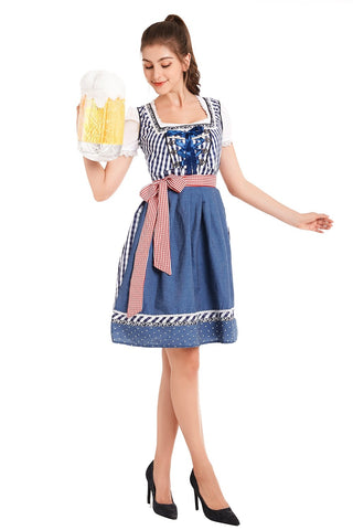 Premium Ladies Oktoberfest German Bavarian Beer Maid Vintage Costume