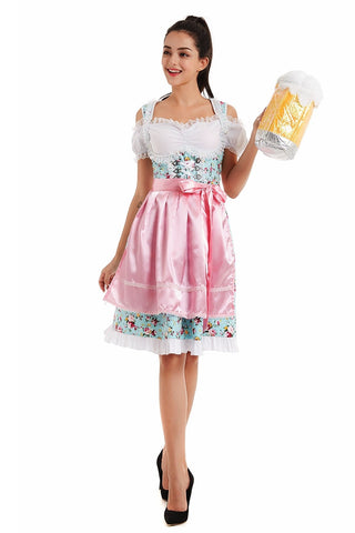 Premium Ladies Oktoberfest German Bavarian Beer Maid Vintage Costume Lederhosen