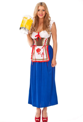Premium Octoberfest German Beer Maid Costume