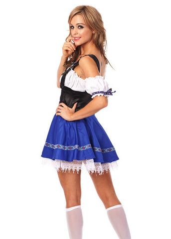 The Blue Lulu: Premium Blue Oktoberfest Beer Maid Inspired Halloween Costume