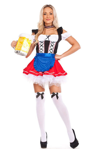 The Sofie: Premium Ladies Beer Maid Wench Costume Oktoberfest Gretchen German Fancy Dress Halloween