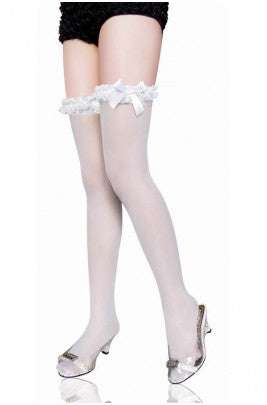 Thigh high White stockings