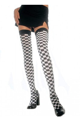 Thigh high checkered stockings