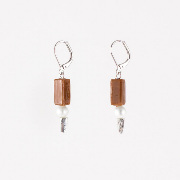 Boucles d'oreilles Brittany cacao