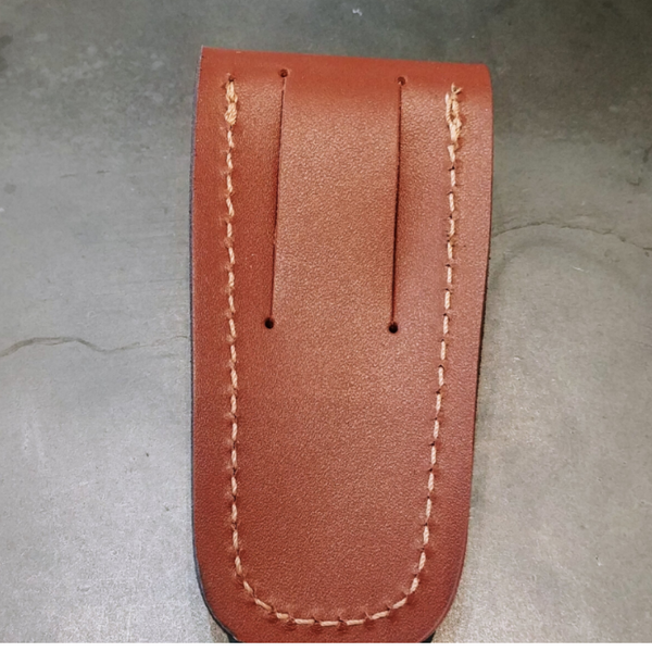 Natural leather knife case
