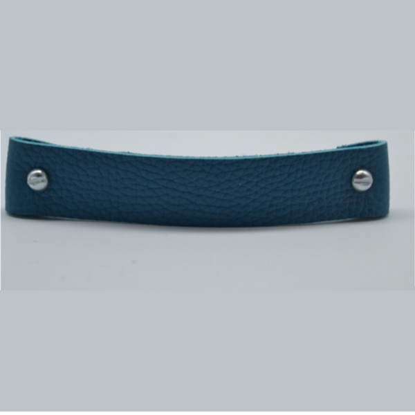 Large leather handle - teal
