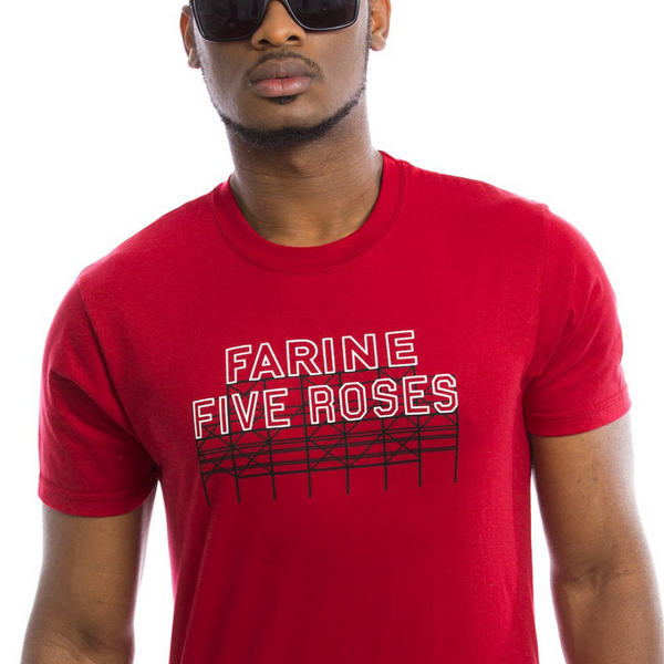 T-shirt farine five rose rouge