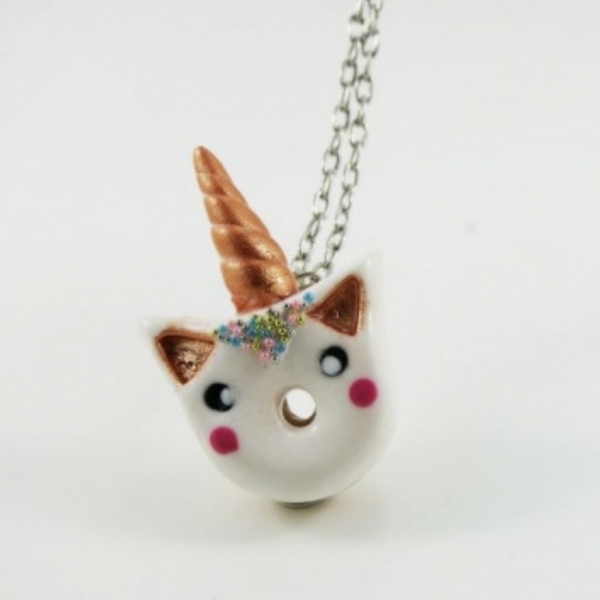 Mini collier Beigne licorne