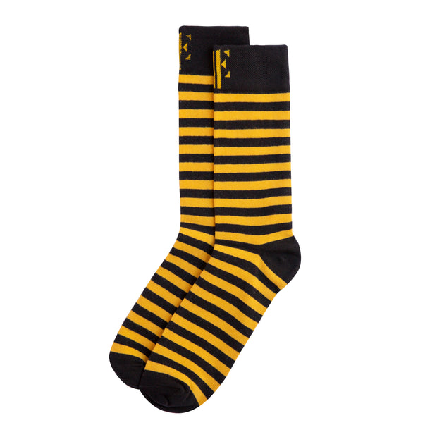 Yellow & Black Crew Socks