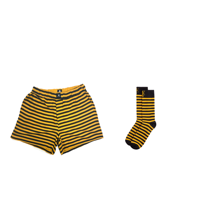 Bumblebee | Yellow & Black Matching Boxers & Socks