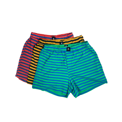 Boxed Essentials Colorful Men's Multipack Boxers, 3-Pack