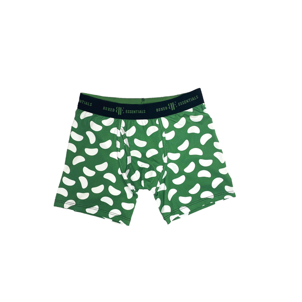 The Green Bean | Green & White Boxer Briefs