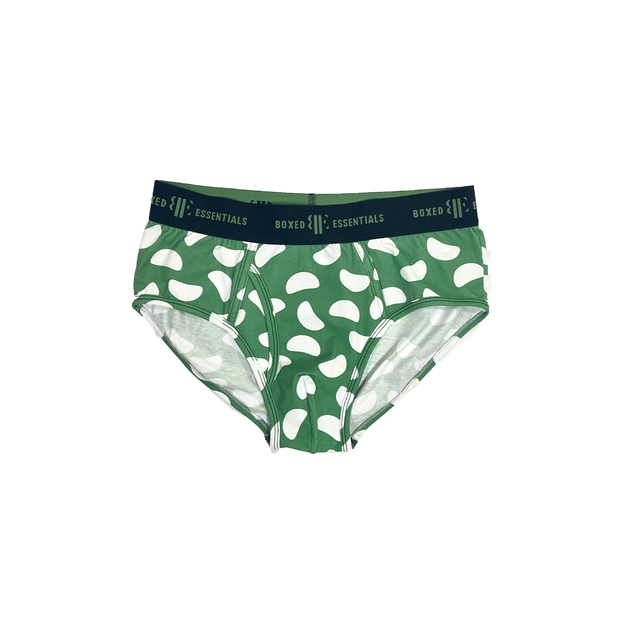 The Green Bean | Green & White Briefs