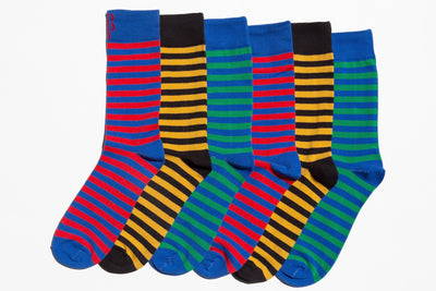 Boxed Essentials Colorful Men's Multipack Socks, 6-Pack