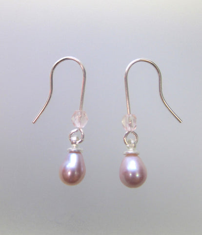 Freshwater Pearl Earrings - Silver Small
