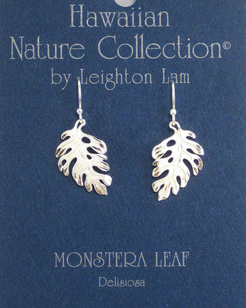 Monstera Leaf - Sterling Silver