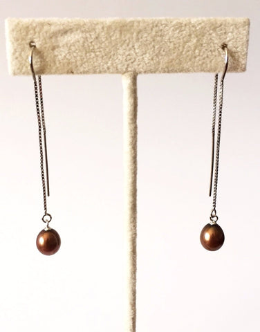 Thread Pearl Earrings
