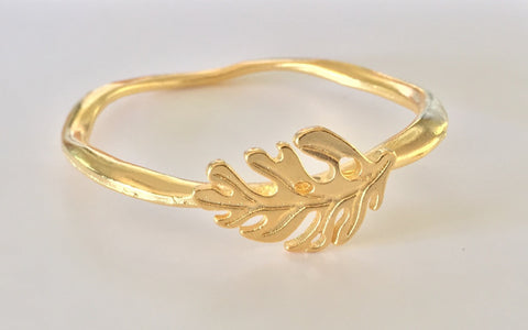 Monstera Gold or Silver Bangle