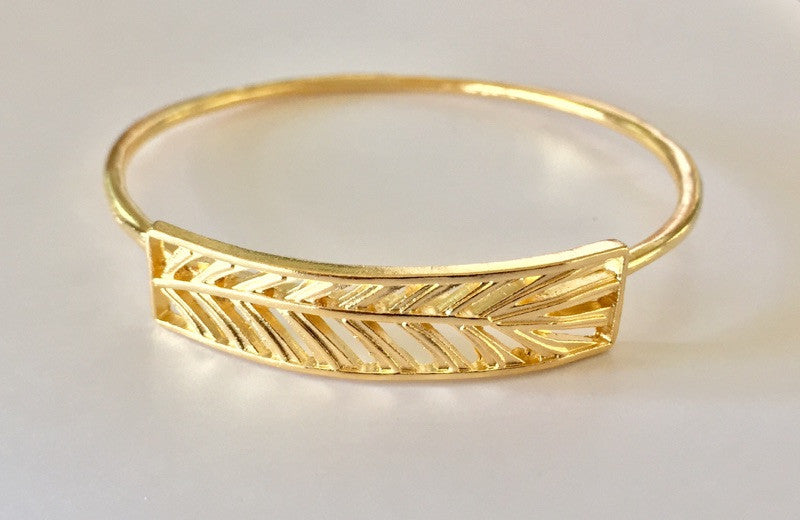 Niu Palm Gold or Silver Bangle