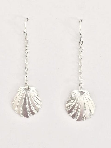 Sunrise Shell Dangle Earrings