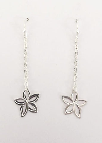 Cut-Out Plumeria Dangle Earring