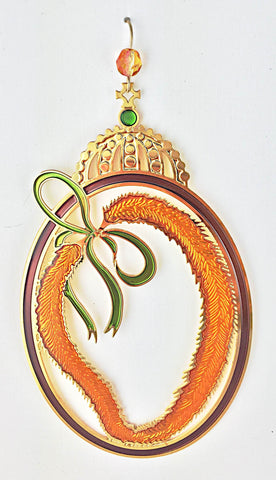 Royal Feather Lei Ornament