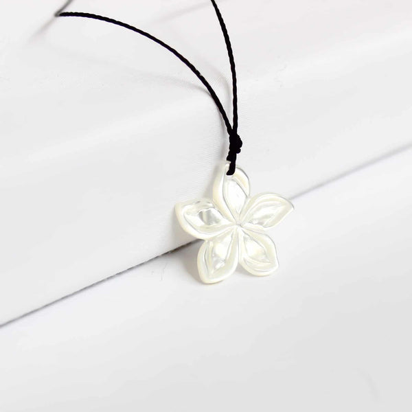 Carved Plumeria Necklace