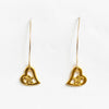 Gold Half Moon Hawaiian Earrings