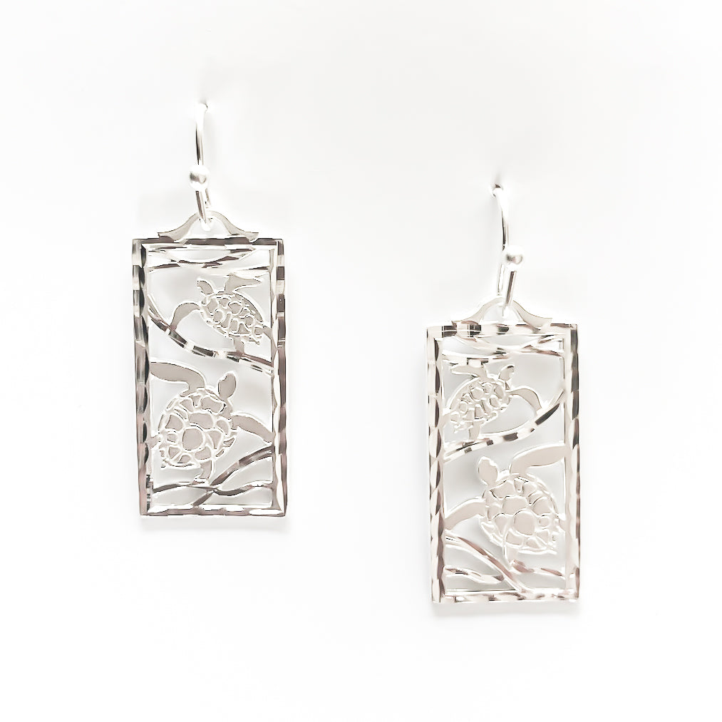 Honu Rectangle - Sterling Silver