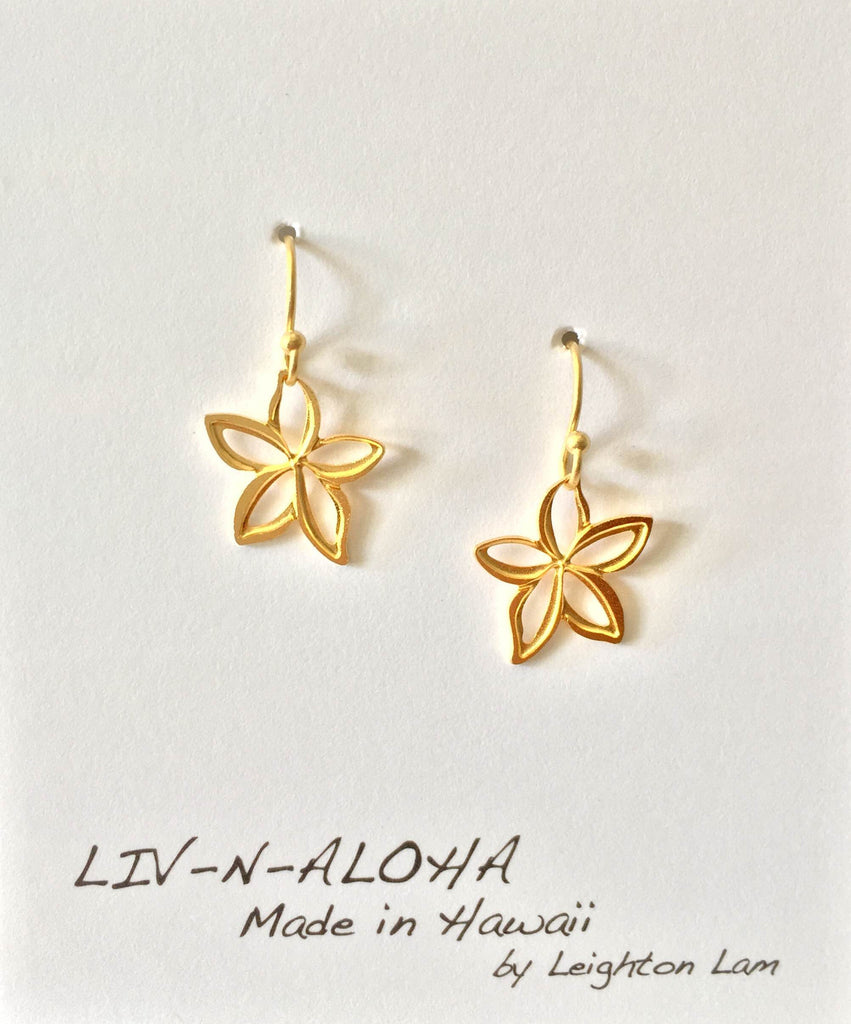 Dancing Plumeria Earrings