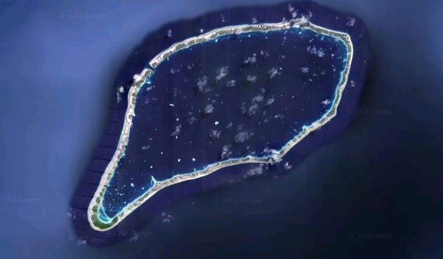 Satellite view of Ahe Atoll