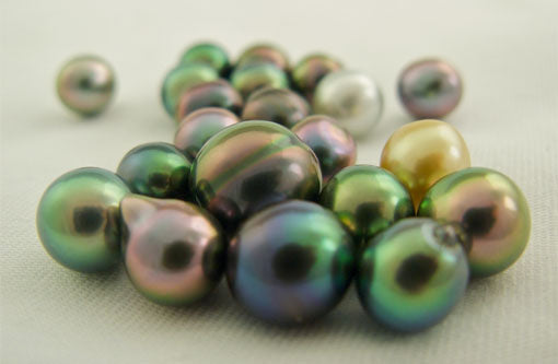 Colorful Tahitian pearls