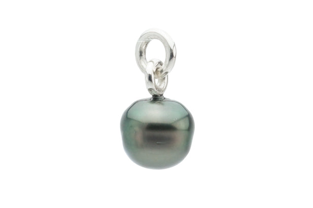 Forest Green Circled Tahitian Pearl Pendant