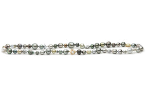 Tahitian pearl harvest mixed strand necklace