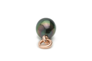 Tahitian rainbow drop 11mm pearl on rose gold
