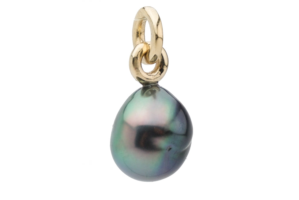 Mermaid rainbow baroque Tahitian pearl pendant
